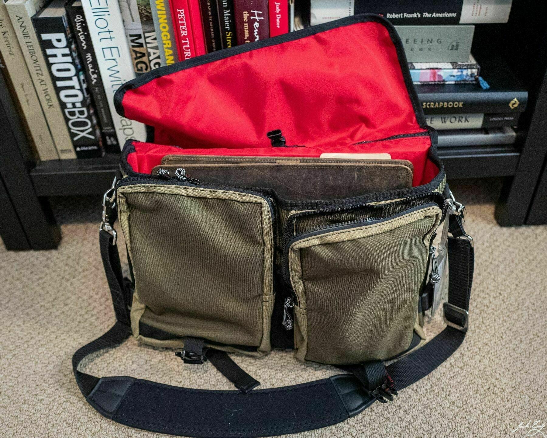 C.C. Rider bag, unposed, on my home office floor.
